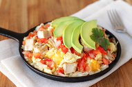 Avocado-Chicken B-fast Scramble