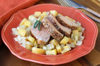Pork Tenderloin with Onions & Apples