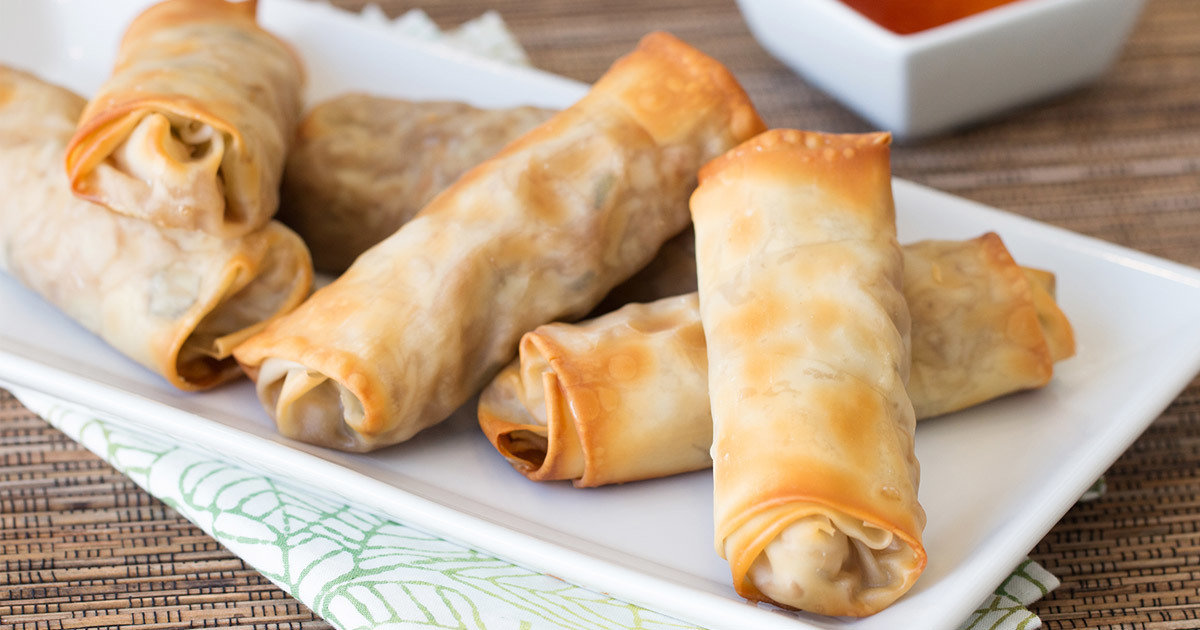 Healthy Baked Egg Rolls Recipe Hungry Girl