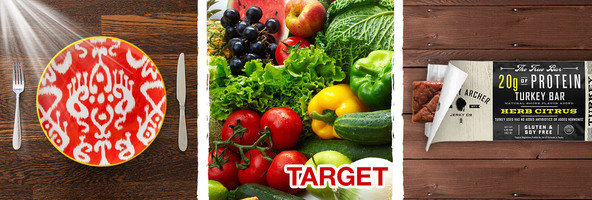 3 Things You Need to Know: Target Grocery, Bright Light = Better Food, Meat Bars