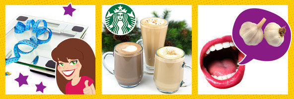 HG Success Stories, Low-Calorie Starbucks Holiday Drinks, Tricks for Garlic Breath
