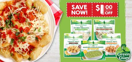 Green Giant Veggie Tots, Pizza-fied Veggie Tots Recipe