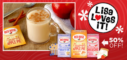 Zero-Calorie Dessert Fix, Caramel Apple Pie Latte & 50 Percent Off the World's Best Snacking and Dessert Tea!