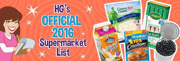HG's 2016 Healthy Supermarket List