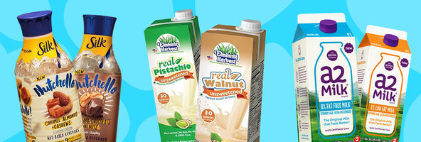 Amazing Milk Finds: Silk Nutchello, Elmhurst Harvest Pistachio and Walnut Beverages, a2 Fat Free Milk