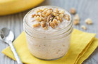 Healthy Banana Bread Overnight Oats Recipe