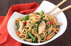 Healthy Zucchini Lo Mein with Chicken Recipe
