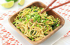 Healthy Cold Sesame Zucchini Noodles Recipe