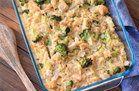 Healthy Cheesy Chicken Broccoli & Cauliflower Rice Casserole Recipe