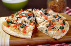 Healthy Garlic Chicken Pizza Recipe