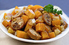 Healthy Chicken Sausage 'n Squash Foil Pack Recipe