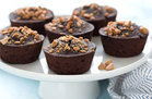 Healthy Mini Flourless PB Chocolate Cakes Recipe