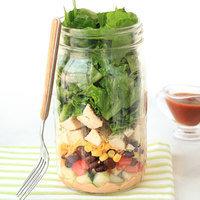 Healthy BBQ Ranch Chicken Salad in a Jar Recipe