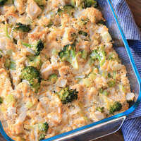 Healthy Cheesy Chicken Broccoli & Cauliflower Rice Casserole Recipe