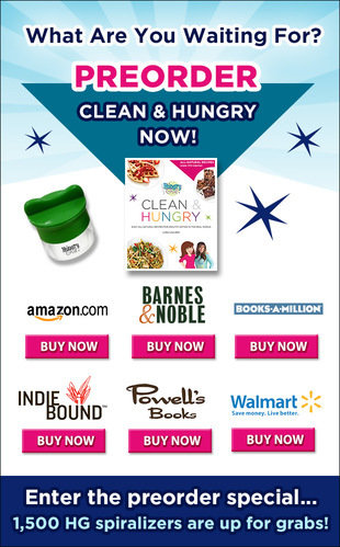 Hungry Girl Clean & Hungry Preorder Promo: Preorder Now for Free Spiralizer!