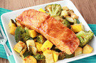 BBQ Salmon & Veggies