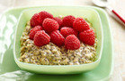 Vanilla Overnight Oats with Raspberries