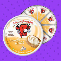 The Laughing Cow Creamy Asiago Spreadable Cheese Wedges