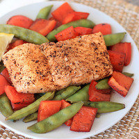 5 Ingredient Meals: Balsamic Honey Salmon 'n Veggies