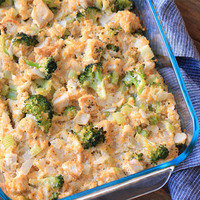 Low-Carb Meals: Cheesy Chicken Broccoli & Cauliflower Rice Casserole