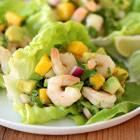 Low-Carb Meals: Shrimp & Avocado Lettuce Tacos