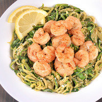 Low-Carb Meals: Zucchini Spaghetti with Shrimp