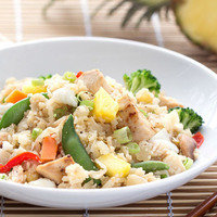 Low-Carb Meals: Hawaiian Chicken Cauliflower Fried Rice
