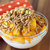 Healthy Breakfast in 10 Minutes or Less: Peach Mango Bowl