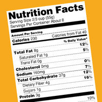 Food-Shopping Mistakes: Simply skimming the nutritional info