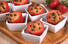Chocolate & PB Stuffed Strawberries