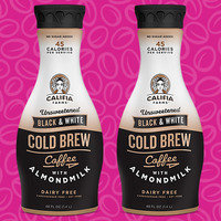 Califia Farms Unsweetened Black & White Cold Brew Coffee with Almondmilk