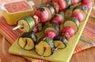 Summer-Perfect Grill Recipes: Schmancy Veggie Skewers with Sauce