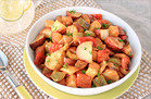 Warm & Spicy BBQ Potato Salad