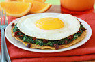 Meatless Recipes You'll Love: Cheesy Spinach Breakfast Tostada