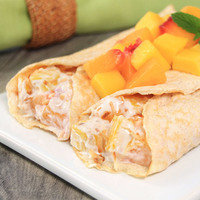 Snack Hacks: Make two-ingredient protein crepes, and stuff 'em with anything.