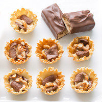 Snack Hacks: Craving chocolate? Chop 'n bake your candy to make a single bar go far.
