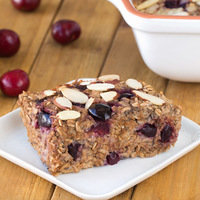 Make-Ahead Breakfast: Cherry Pie Oatmeal Bake