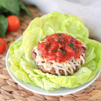Healthy Dinner Recipes in 20 Minutes or Less: Saucy Italian Burger on a Lettuce Bun
