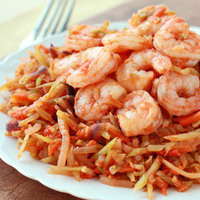 Healthy Dinner Recipes in 20 Minutes or Less: Shrimp n' Slaw Marinara