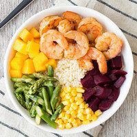 Cauliflower Rice Recipes: Shrimp 'n Veggie Power Bowl