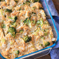 Cauliflower Rice Recipes: Cheesy Chicken Broccoli & Cauliflower Rice Casserole