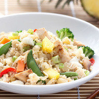 Cauliflower Rice Recipes: Hawaiian Chicken Cauliflower Fried Rice