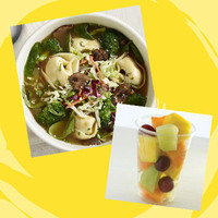 Panera Meal with 350 Calories or Less: Thai Garden Chicken Wonton Broth Bowl + Seasonal Fruit Cup