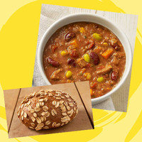 Panera Meal with 350 Calories or Less: Cup Turkey Chili + Sprouted Grain Roll