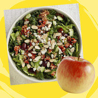 Panera Meal with 350 Calories or Less: Half Modern Greek Salad with Quinoa + Apple