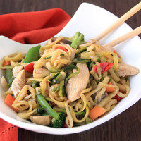 Healthy Spiralizer Recipes: Zucchini So Low Mein with Chicken