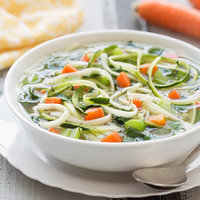 Healthy Spiralizer Recipes: Slow-Cooker Veggie-Noodle Soup