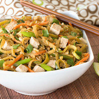 Healthy Spiralizer Recipes: Zucchini-Noodle Pad Thai