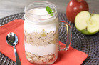 Apple Pie Overnight Oatmeal Parfait