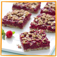 Hungry Girl's Healthy Potluck Recipes: Raspberry Streusel Bars